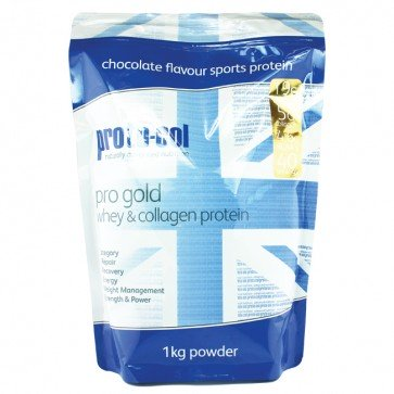 pro gold whey & collagen protein (chocolate)