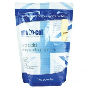 pro gold whey & collagen protein (strawberry)